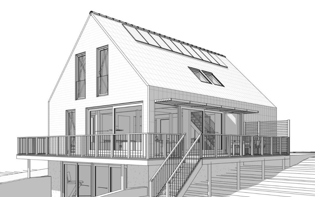 8A ontwerpt moderne dijkwoning in Barendrecht