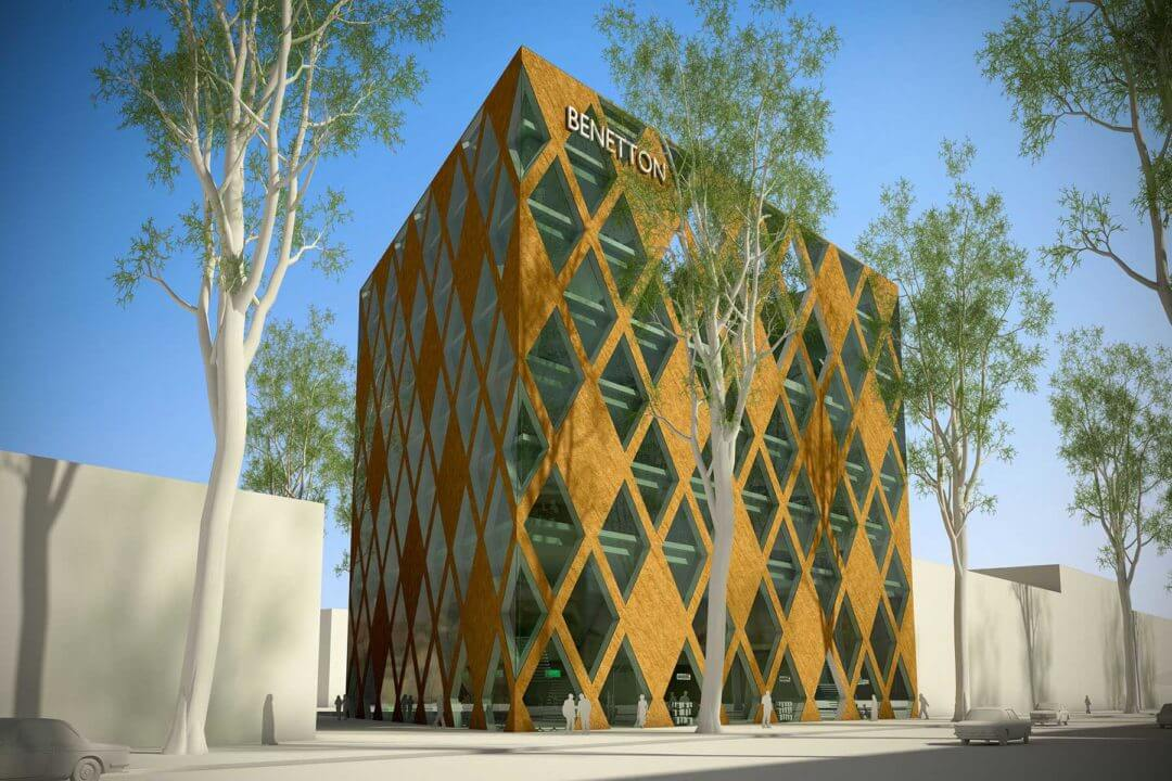 Kantoorgebouw voor Benetton Group, Teheran (Iran)