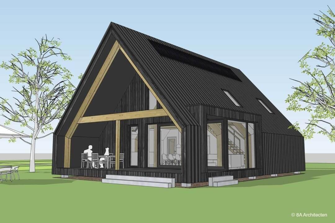 Schuurwoning met veranda, Giel Peetershof, Egchel (Limburg)
