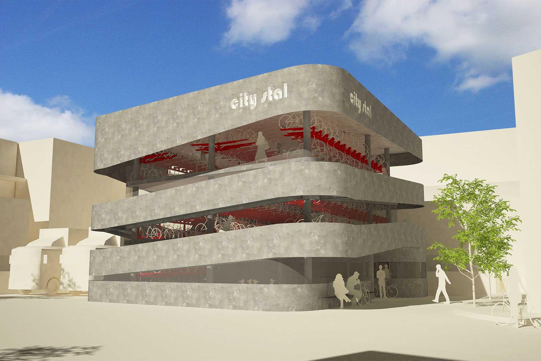 8A Architecten - Fietsenstalling 'City stal', Ringstede, Nieuwegein