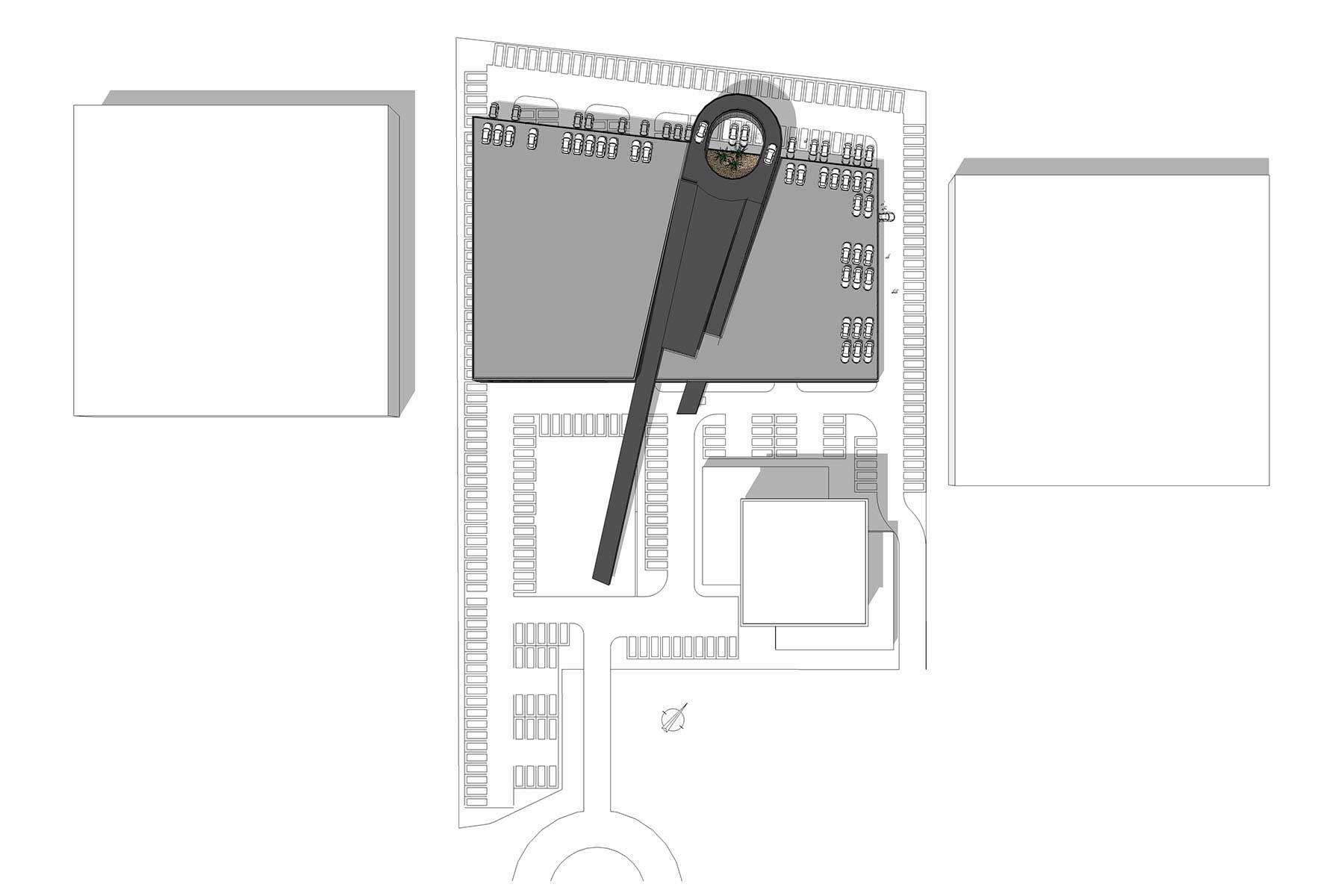 8A Architecten - auto showroom en garage met hellingbaan, Forepark, Den Haag