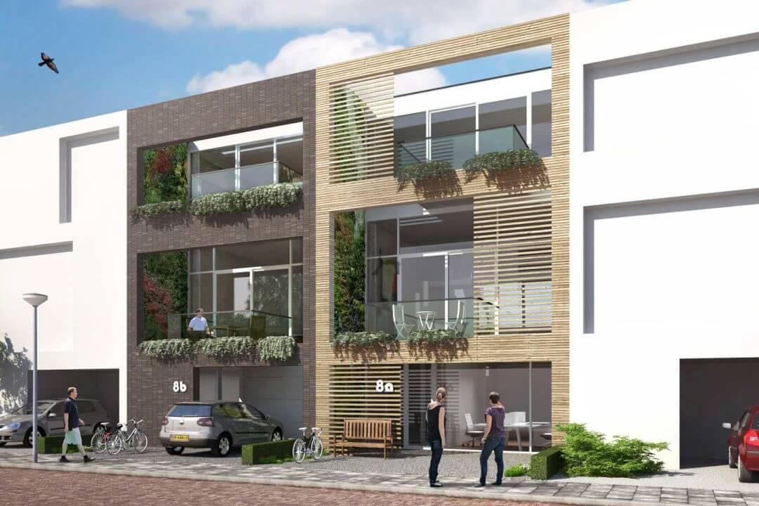 Zelfbouw split level woning, IJburg Blok 59, Amsterdam IJburg