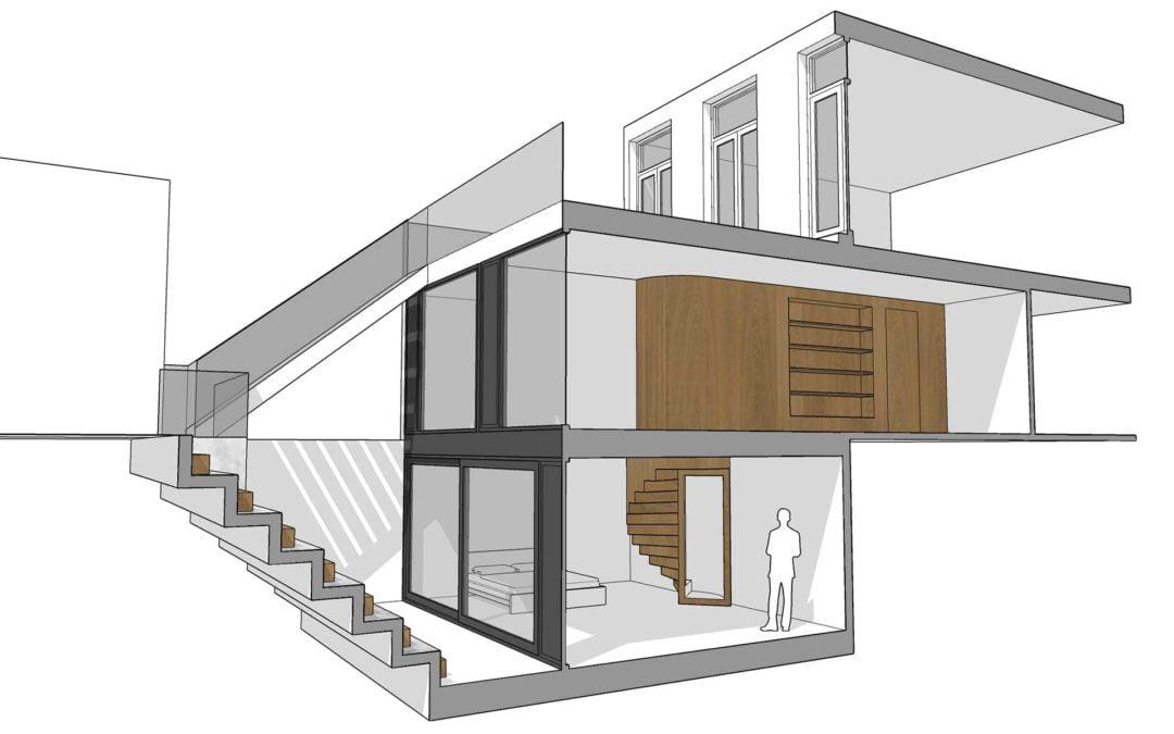 8A ontwerpt uitbouw met kelder in Utrecht