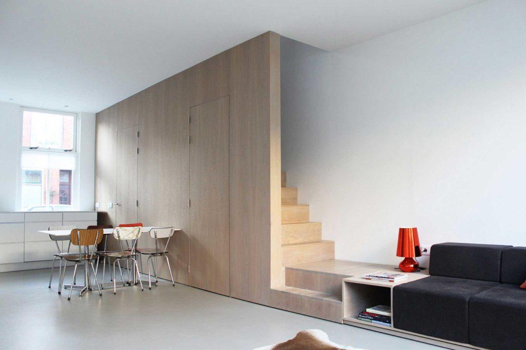 Verbouwing, renovatie en interieur arbeiderswoning, Leiden