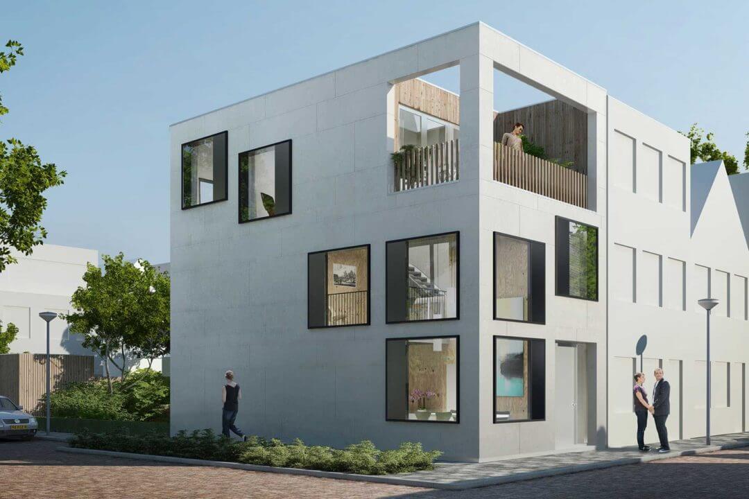 Zelfbouw hoekwoning Window house, Homeruskwartier, Almere