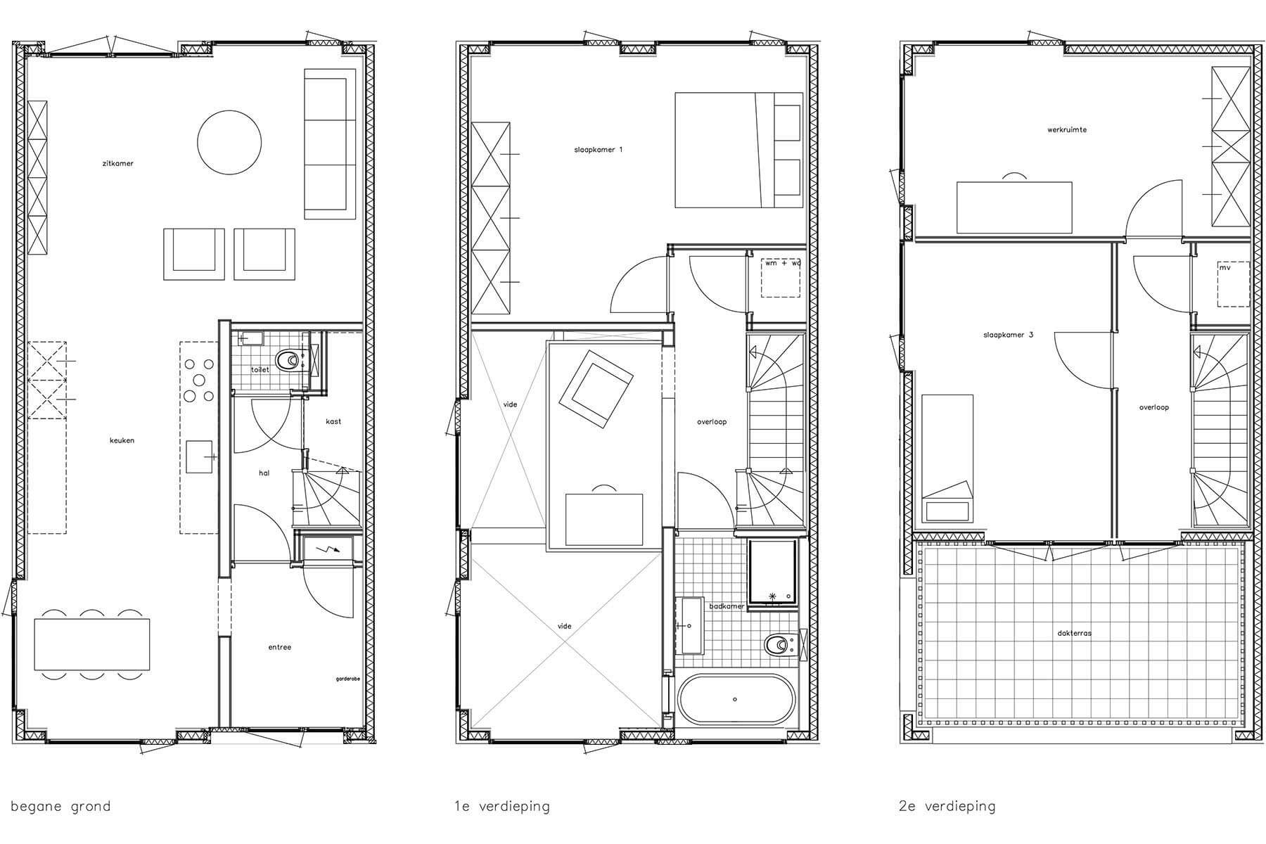 8A Architecten - Zelfbouw hoekwoning Window house, Homeruskwartier, Almere Poort