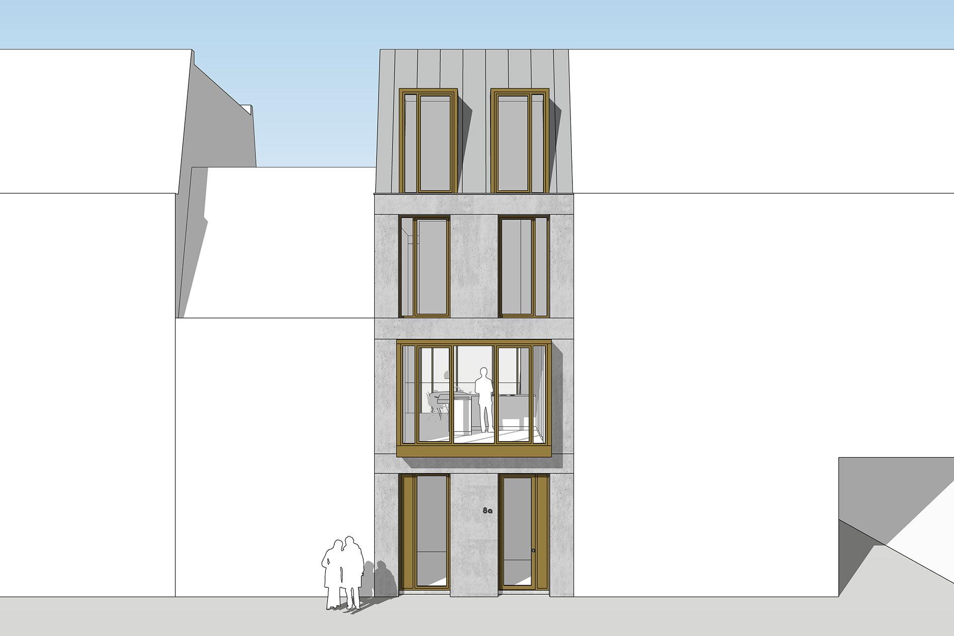 8A Architecten - modern zelfbouw herenhuis, Ringdijk 44 locatie, Amsterdam Oost