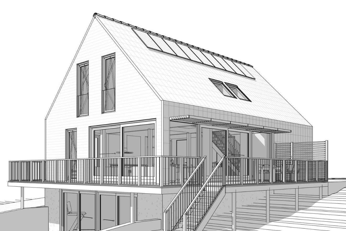 Architect moderne villa - Vrijstaande dijkwoning, Barendrecht
