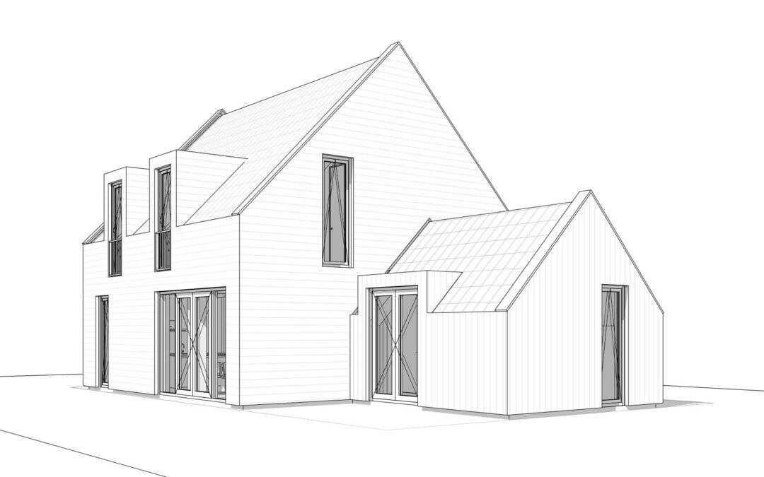 8A ontwerpt moderne schuurwoning in Heemskerk