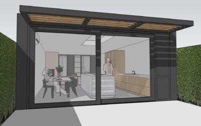 8A ontwerpt uitbouw en interieur tussenwoning Utrecht